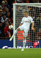 Pictured: Garry Monk. Sunday 24 February 2013<br /> Re: Capital One Cup football final, Swansea v Bradford at the Wembley Stadium in London.