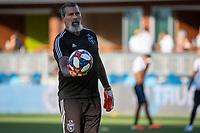 SAN JOSÉ CA - Saturday August 03, 2019:  Coach Carlos Roa during a Major League Soccer (MLS) match between the San Jose Earthquakes and the Columbus Crew at Avaya Stadium in San José, California.