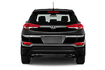 Straight rear view of 2018 Hyundai Tucson SE 5 Door Suv Rear View  stock images
