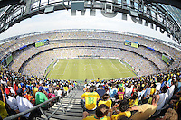 Overview of MetLife Stadium During the game.  The Argentina National Team defeated Brazil 4-3 at MetLife Stadium, Saturday July 9 , 2012.