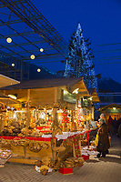 Italie, Val d'Aoste, Aoste,le marché de Noël // Italy, Aosta Valley, Aosta,Christmas market