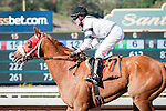 March 14, 2015: Warren's Veneda with Tyler Baze up win the Santa Margartia Stakes at Santa Anita Park in Arcadia, California. Mary Ellet/ESW/CSM