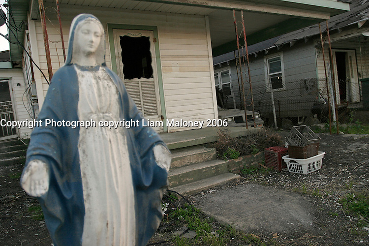 New Orleans, LA--A heavily damaged home in the 9th Ward.Liam Maloney / Special to The Gazette