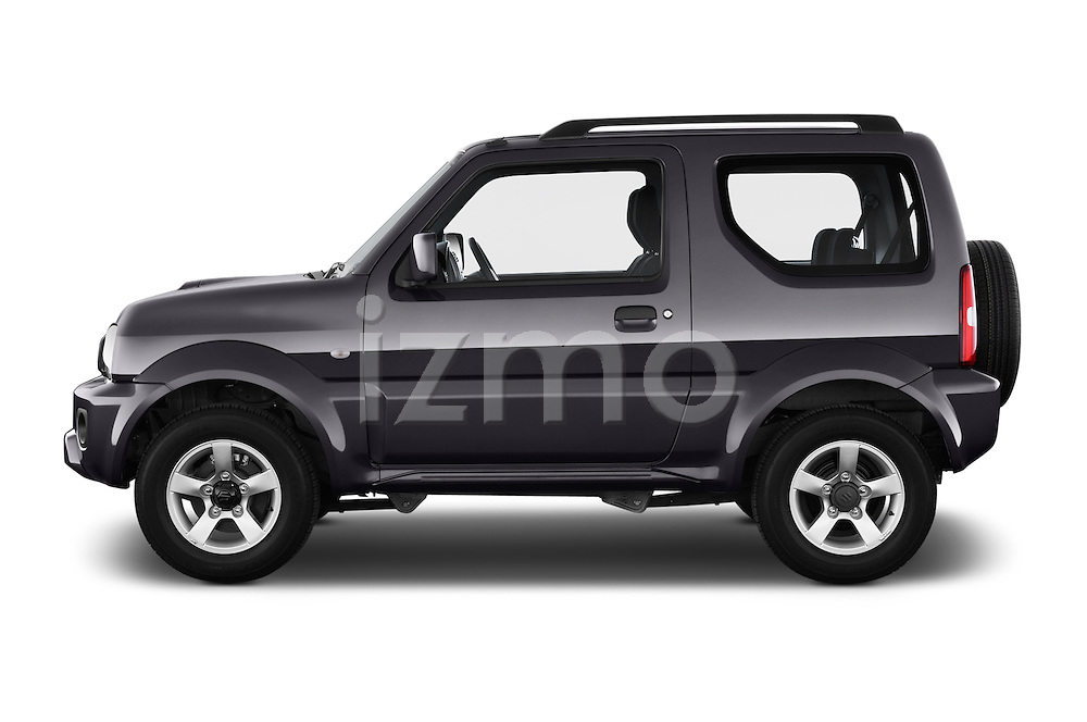 Car Driver side profile view of a 2014 Suzuki JIMNY JLX X-Citement 3 Door SUV 4WD Side View