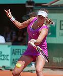 Petra Kvitova (CZE) wins at Roland Garros in Paris, France on June 2, 2012