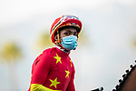 December 26, 2020: Ricardo Santana Jr. after the Malibu Stakes at Santa Anita Park in Arcadia, California on December 26, 2020. Evers/Eclipse Sportswire/CSM