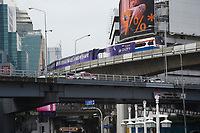 skytrain<br />  in Bangkok, Thailand in December 2016 after the King's death