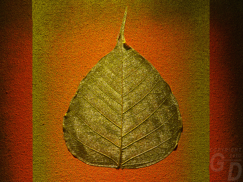 Decorative leaf on a matt, Thailand