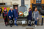 Laying wreaths at the memorial for Volunteer Tadhg O'Sullivan Rathmore who was killed by the RIC in Cork City on 19th April 1921 on Sunday were front row l-r: Noreen Curran, Anne O'Shea, Breda O'Leary and Maggie McAulliffe
