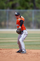 Miami Marlins Denis Karas (66) during a Minor League Spring Training game against the St. Louis Cardinals on March 26, 2018 at the Roger Dean Stadium Complex in Jupiter, Florida.  (Mike Janes/Four Seam Images)