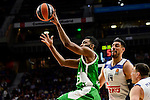 Real Madrid's player Gustavo Ayon and Jonas Maciulis and Unics Kazan's player Keith Langford during match of Turkish Airlines Euroleague at Barclaycard Center in Madrid. November 24, Spain. 2016. (ALTERPHOTOS/BorjaB.Hojas)