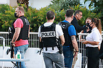 Cannes Film Festival 2021 . 74th edition of the 'Festival International du Film de Cannes' under Covid-19 outbreak on 10/07/2021 in Cannes, France.  BAC and police at work.<br /> © Pierre Teyssot / Maxppp