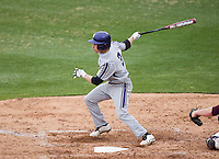 Trevor Stevens (3) of the Northwestern Wildcats follows through his swing during a game against the Missouri State Bears at Hammons Field on March 8, 2013 in Springfield, Missouri. (David Welker/Four Seam Images)