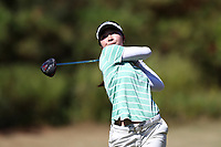 CHAPEL HILL, NC - OCTOBER 11: Yurika Tanida of Michigan State University tees off at UNC Finley Golf Course on October 11, 2019 in Chapel Hill, North Carolina.