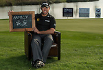"""Lee Westwood was asked by Ballantine's at the BMW Masters to describe how he stays true to himself; his answer is shown. Ballantine's, who recently announced their new global marketing campaign, """"Stay True, Leave An Impression"""", is a sponsor at the BMW Masters, which takes place from the 24-27 October at Lake Malaren Golf Club in Shanghai.  Photo by Andy Jones / The Power of Sport Images for Ballantines."""