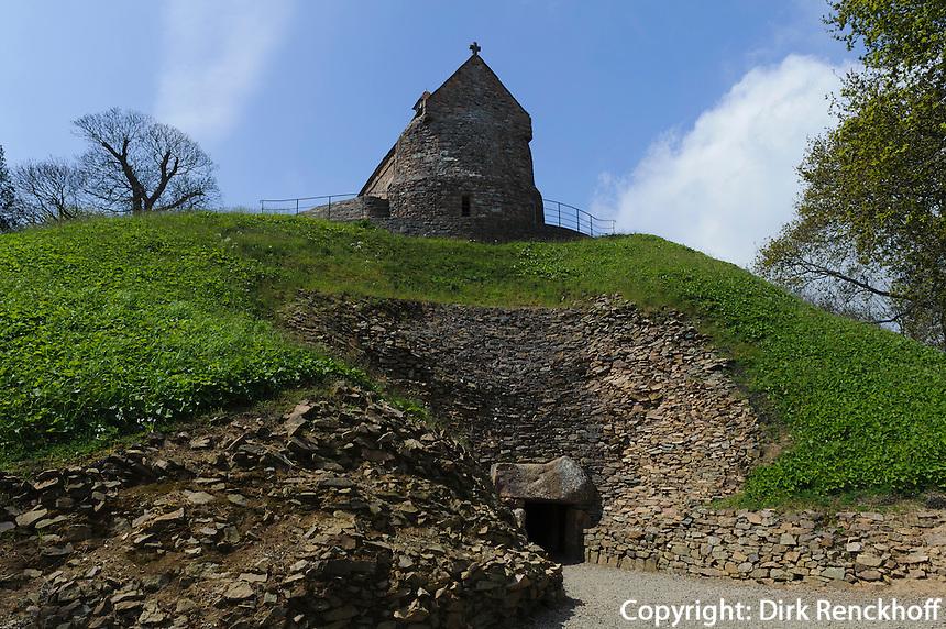 neolithische Grabstätte La Hougue Bie ca. 3.000 vor Chr., Insel Jersey, Kanalinseln