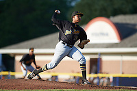 West Virginia Black Bears starting pitcher Sergio Cubilete (70) delivers a pitch during a game against the Batavia Muckdogs on June 26, 2017 at Dwyer Stadium in Batavia, New York.  Batavia defeated West Virginia 1-0 in ten innings.  (Mike Janes/Four Seam Images)