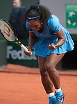 May 28, 2016:  Serena Williams defeated Kristina Mladenovic 6-4, 7-6, at the Roland Garros being played at Stade Roland Garros in Paris, .  ©Leslie Billman/Tennisclix/CSM