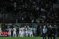 La Juventus parla con i tifosi.Bergamo 08/05/2013 .Football Calcio Serie A  2012/13 Stadio Atleti Azzurri d'Italia di Bergamo.Atalanta vs Juventus.Foto Insidefoto Federico Tardito