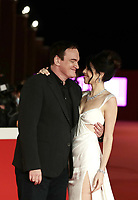 US director Quentin Tarantino and his wife Israeli singer Daniella Pick pose on the red carpet for the Lifetime Achievement Award ceremony at the 16th edition of the Rome Film Fest in Rome, on October 19, 2021.<br /> UPDATE IMAGES PRESS/Isabella Bonotto