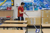 Cleaner,  State Secondary Roman Catholic school.