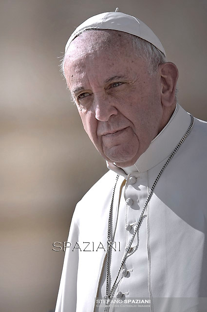 Pope Francis  during his weekly general audience in St. Peter square at the Vatican, Wednesday.September 30, 2015.