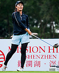 Xiyu Lin of China in action during the Hyundai China Ladies Open 2014 on December 10 2014 at Mission Hills Shenzhen, in Shenzhen, China. Photo by Xaume Olleros / Power Sport Images