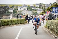 Per usual: Tim Declercq (BEL/Deceuninck - Quick Step) setting the pace<br /> <br /> Stage 1 from Brest to Landerneau (198km)<br /> 108th Tour de France 2021 (2.UWT)<br /> <br /> ©kramon