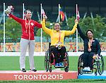 Karen Van Nest, Toronto 2015 - Para Archery // Paratir a l'arc.<br /> Karen Van Nest wins silver in Para Archery // Karen Van Nest remporte la médaille d'argent en para tir à l'arc. 10/08/2015.