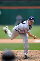 Columbus Clippers relief pitcher Chris Ray #29 delivers a pitch during a game against the Buffalo Bisons at Coca-Cola Field on May 31, 2012 in Buffalo, New York.  Columbus defeated Buffalo 3-0.  (Mike Janes/Four Seam Images)