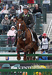 Harald Ambros and Quick 2 of Austria compete in the final stadium jumping round of the FEI  World Eventing Championship at the Alltech World Equestrian Games in Lexington, Kentucky.