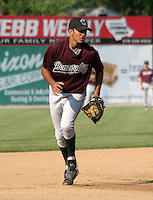 August 25, 2003:  Gabriel Martinez of the Hudson Valley Renegades, Class-A affiliate of the Tampa Bay Devil Rays, during a NY-Penn League game at Bowman Field in Williamsport, PA.  Photo by:  Mike Janes/Four Seam Images