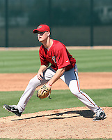 Tyler Green #10 of the Arizona Diamondbacks works out at the Diamondbacks spring training complex at Salt River Fields on March 13, 2011 in Scottsdale, Arizona. .Photo by:  Bill Mitchell/Four Seam Images.