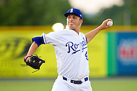 Burlington Royals starting pitcher Matt Tenuta (49) in action against the Pulaski Mariners at Burlington Athletic Park on June20 2013 in Burlington, North Carolina.  The Royals defeated the Mariners 2-1 in 13 innings.  (Brian Westerholt/Four Seam Images)