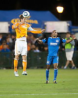 SANTA CLARA, CA – OCTOBER 16: Houston Dynamo defender Bobby Boswell (32)during a soccer match at Buck Shaw Stadium, October 16, 2010 in Santa Clara, California. Final score San Jose Earthquakes 0, Houston Dynamo 1.