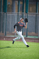 Logan Britt (17) of All Saints Episcopal High School in Aledo, Texas during the Under Armour All-American Pre-Season Tournament presented by Baseball Factory on January 14, 2017 at Sloan Park in Mesa, Arizona.  (Mike Janes/MJP/Four Seam Images)