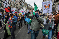 M21 anti racism protest in London. 21-3-15The march went from Portland place to Trafalgar square.