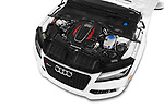 Car stock 2015 Audi RS7  quattro tiptronic Prestige 5 Door Hatchback engine high angle detail view