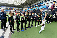 Connor Roberts of Swansea City exits the tunnel during the Sky Bet Championship match between Swansea City and Preston North End at the Liberty Stadium, Swansea, Wales, UK. Saturday 17 August 2019