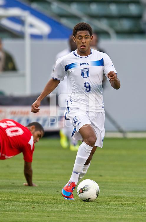 CARSON, CA - March 23, 2012: Antony Lozano (9) of Honduras during the Honduras vs Panama match at the Home Depot Center in Carson, California. Final score Honduras 3, Panama 1.