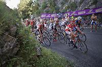 Last grupetto up the Lacets du Grand Colombier (Cat1/891m/8.4km/7.6%)<br /> <br /> stage 15: Bourg-en-Bresse to Culoz (160km)<br /> 103rd Tour de France 2016