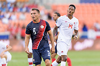 Houston, TX - Tuesday July 11, 2017: The National Teams of Canada and Costa Rica in Group A action during a 2017 CONCACAF Gold Cup match played at BBVA Compass Stadium.