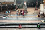 Homeless street dwellers rest at Sealdah Station (largest train station in the cetre of Kolkata) midst 21 days lockdown in India for Corona virus pandemic. Kolkata, West Bengal, India, Arindam Mukherjee.