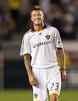 LA Galaxy midfielders David Beckham is all smiles after their victory. The LA Galaxy defeated Chivas USA 1-0 to win the final edition of the 2009 SuperClásico at Home Depot Center stadium in Carson, California on Saturday, August 29, 2009...