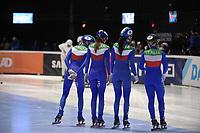 SPEEDSKATING: DORDRECHT: 06-03-2021, ISU World Short Track Speedskating Championships, SF 3000m Relay, (ITA), ©photo Martin de Jong