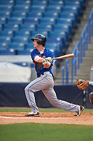 Drake Frix (12) of Darlington High School in Plainville, Georgia playing for the New York Mets scout team during the East Coast Pro Showcase on July 30, 2015 at George M. Steinbrenner Field in Tampa, Florida.  (Mike Janes/Four Seam Images)