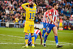 Atletico de Madrid XXX and UD Las Palmas Roque Mesa during La Liga match between Atletico de Madrid and UD Las Palmas at Vicente Calderon Stadium in Madrid, Spain. December 17, 2016. (ALTERPHOTOS/BorjaB.Hojas)
