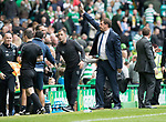 Celtic v St Johnstone …26.08.17… Celtic Park… SPFL<br />Tommy Wright waves to fans at full time<br />Picture by Graeme Hart.<br />Copyright Perthshire Picture Agency<br />Tel: 01738 623350  Mobile: 07990 594431