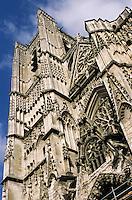 Europe/France/89/Yonne/Auxerre: La cathédrale Saint Etienne - Détail de la façade