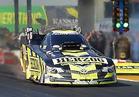 May 19, 2012; Topeka, KS, USA: NHRA funny car driver Tony Pedregon during qualifying for the Summer Nationals at Heartland Park Topeka. Mandatory Credit: Mark J. Rebilas-
